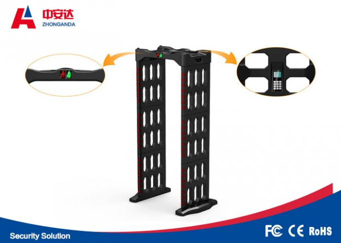 Foldable Multi Zone Metal Detector 2 Years Warranty With Automatic Counting Function