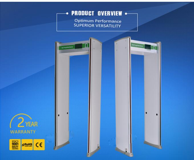 24 Zones Portable Door Frame Metal Detector , Security Walk Through Gate 8W