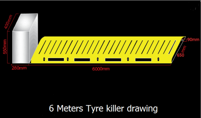 Tire Killer Road Spike Barriers Residence Remote Control High Sensitivity