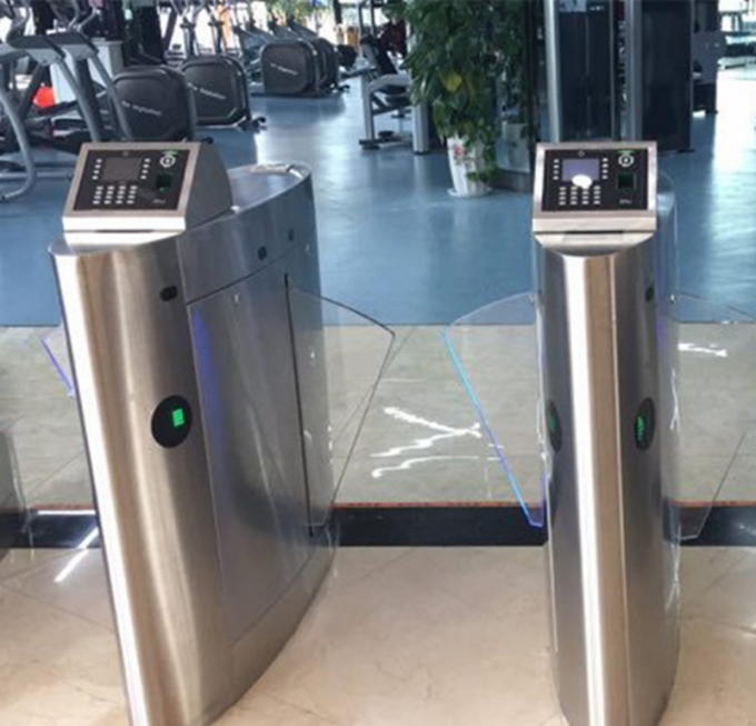 Anti Breakthrough Automatic Turnstiles Fingerprint Color OEM For Disabled Access