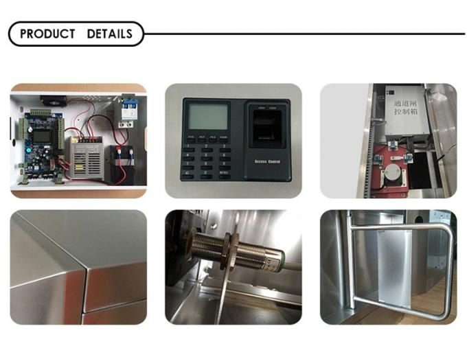 Office Building Electronic Turnstile Gates Automatic Indentification System With Counter