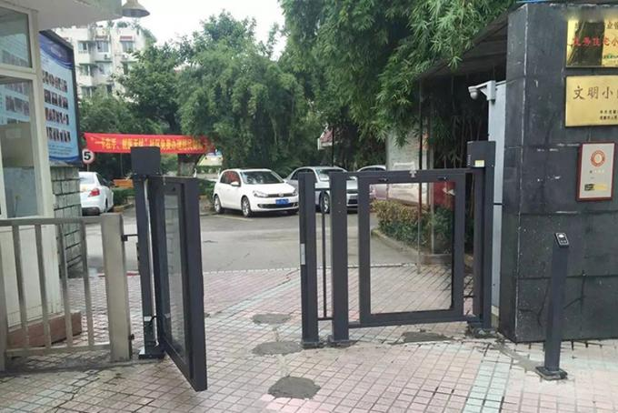Swing Barrier Gate Flap Automatic Turnstiles DC24V 4.5A For Custom Checkpoint Entrance