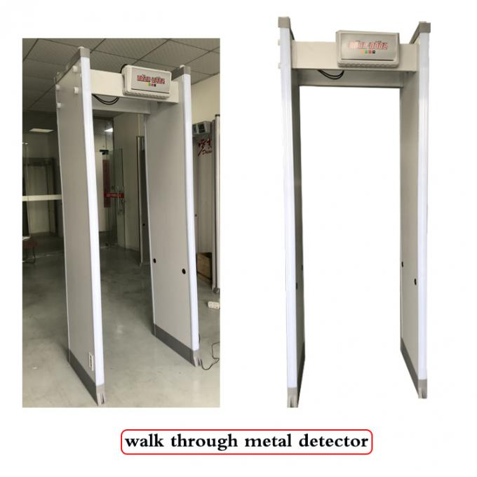 Durable Door Metal Detector Security Checking Gate 33 Detection Zones 2 Years Warranty