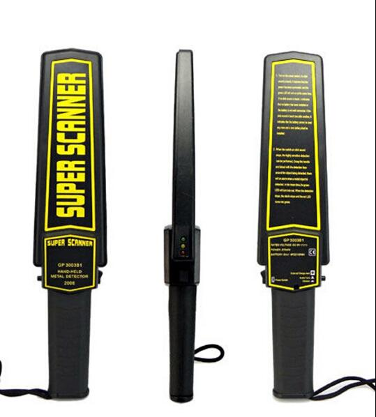 Hand Held Body Metal Detectors Light / Voice Alarm Essensive Metal For Goverment