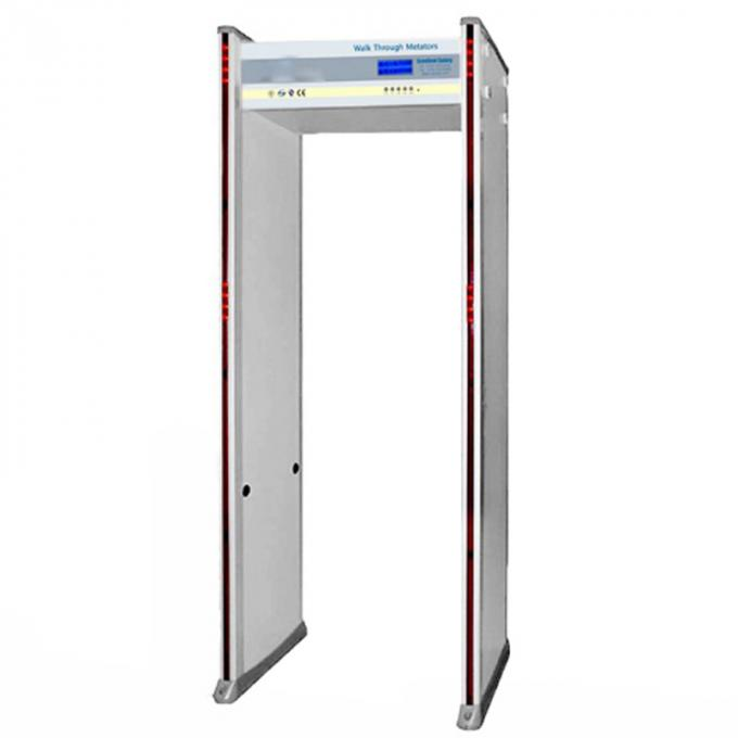 255 Level High Sensitivity Body Metal Detectors , 33 Zones Door Metal Detector