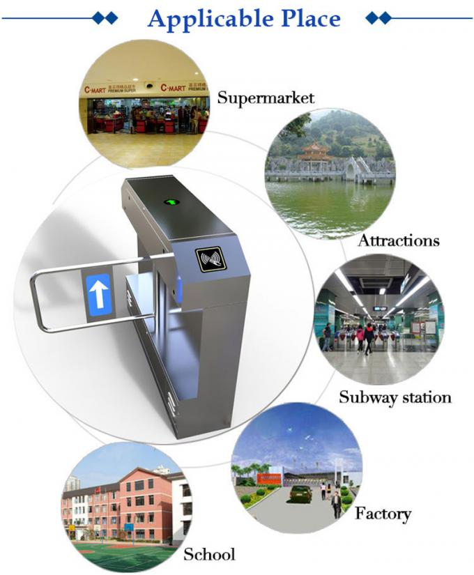 Finger print access control system automatic ESD security access control flap barrier gate