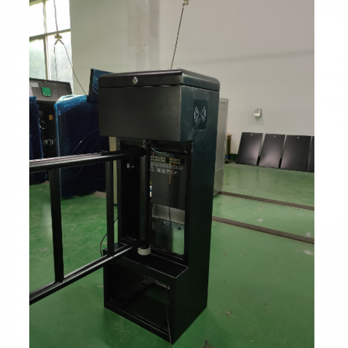 Security Access Control Full Height Sliding Gate With Acess Control Turnstile Barrier Gate