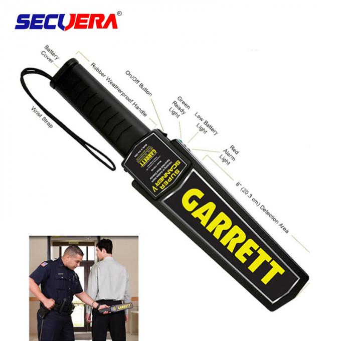 Ultra Sensitive high Security Metal Detector Wand One Button Operation 	Hand Held Metal Detector For Education System