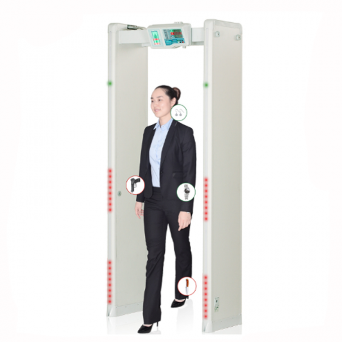 6 Detecting zone arched door frame walk through body scanner metal detector