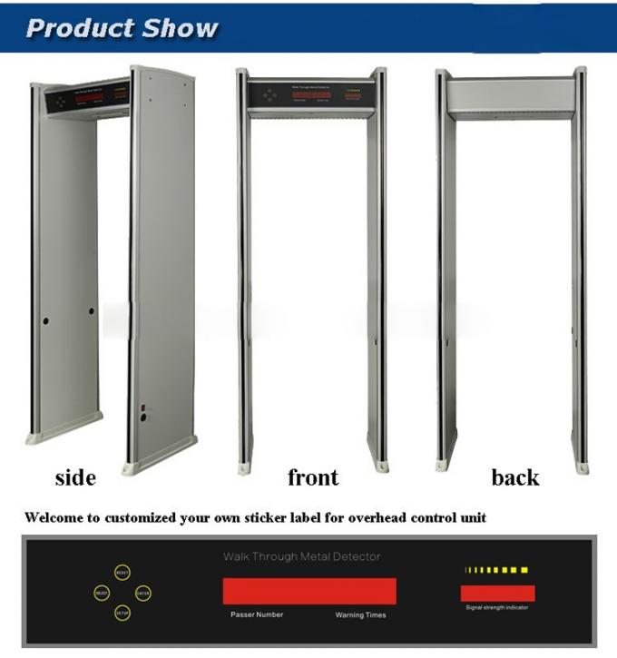 walk through metal detector gate for security Systems metal detector scanner door 6 zones detector