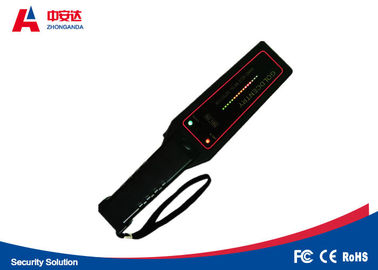China Automatically Hand Held Metal Detector 22 KHZ Frequency With 12 Months Warranty supplier