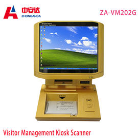 China Gold Desktop Metal Detector Gate  Infrared Body Sensor  Touch Screen Scanner factory