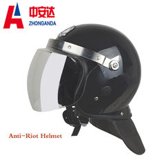 China Black Anti Riot Helmet Shell Abs And Visor Pc  For Police Riot Control factory