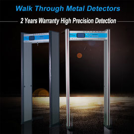 China Adjustable Full Body Metal Detectors Walk Through Door Frame 6 Zones AC110V~240V factory