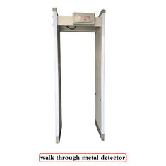 18 Detection Zones Waterproof Walk Through Metal Detectors Body Security Checking