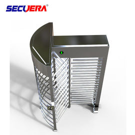China 120 degree single channel automatic RFID access control full height turnstile barrier gate factory