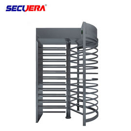RFID card integrated motorised 304 stainless steel full height high entry exit turnstile barrier gate