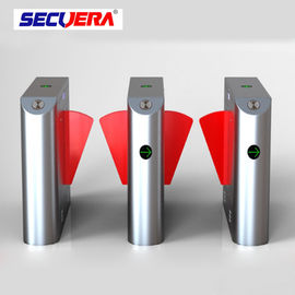 China Single lane Stainless Steel Gate access control turnstile system Fingerprint RFID card reader flap barrier factory