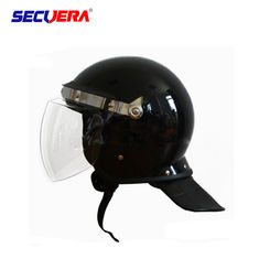 Black Anti Riot Helmet Shell Abs And Visor Pc  For Police Riot Control