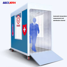 Body Temperature Detection Walk Through Security Metal Detectors Disinfection Channel
