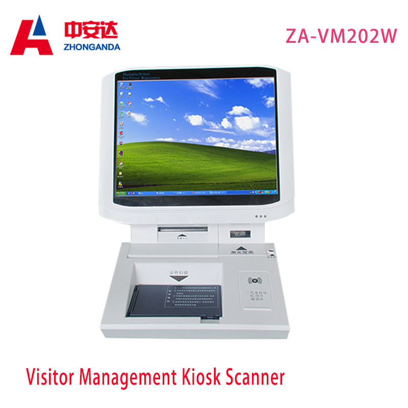 Hotel Payment White Touch Screen Desktop Visitor Management  15 inch supplier
