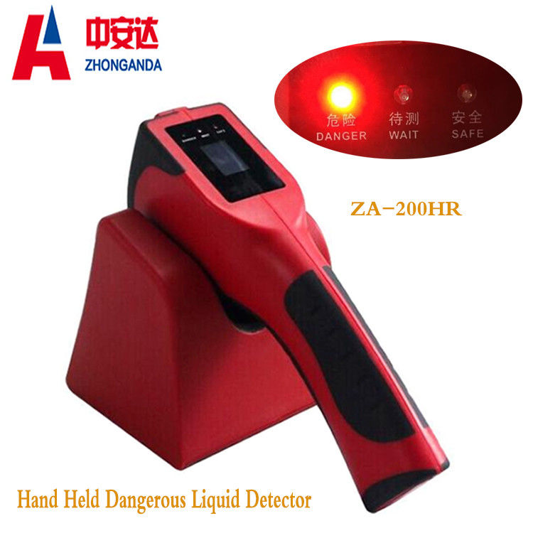 Red Plastic ZA-200H Airport Baggage Scanner Hand Held Dangerous Chemical Liquid supplier