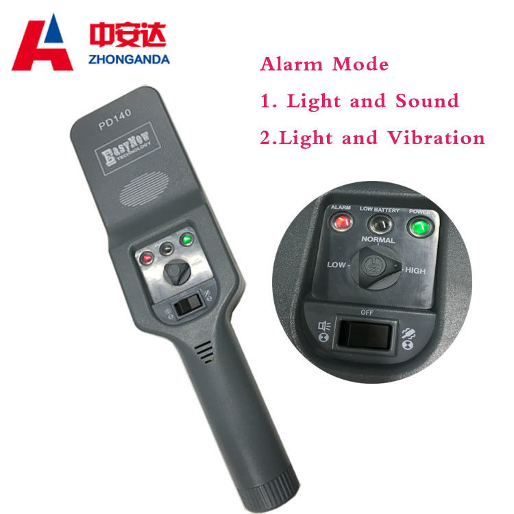 Plastic Material Hand Held Metal Detector Automatically Reset Time For Safety Checking supplier