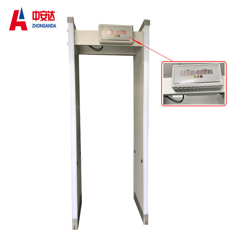 Intelligent Standby Walk Through Metal Detector 8 Zones With Full Aluminum Frame supplier