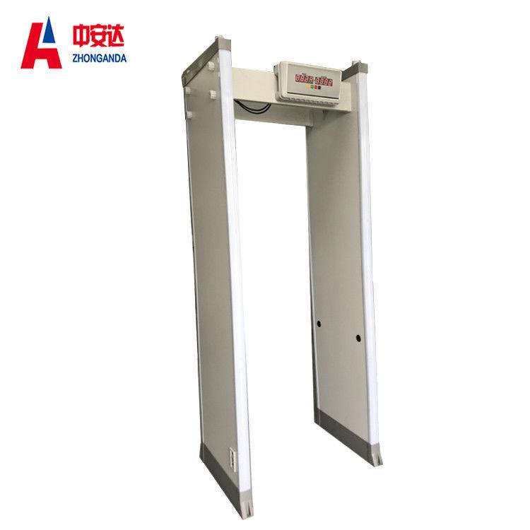 Door Frame Walk Through Metal Detector , 6 Zones LED Security Metal ...