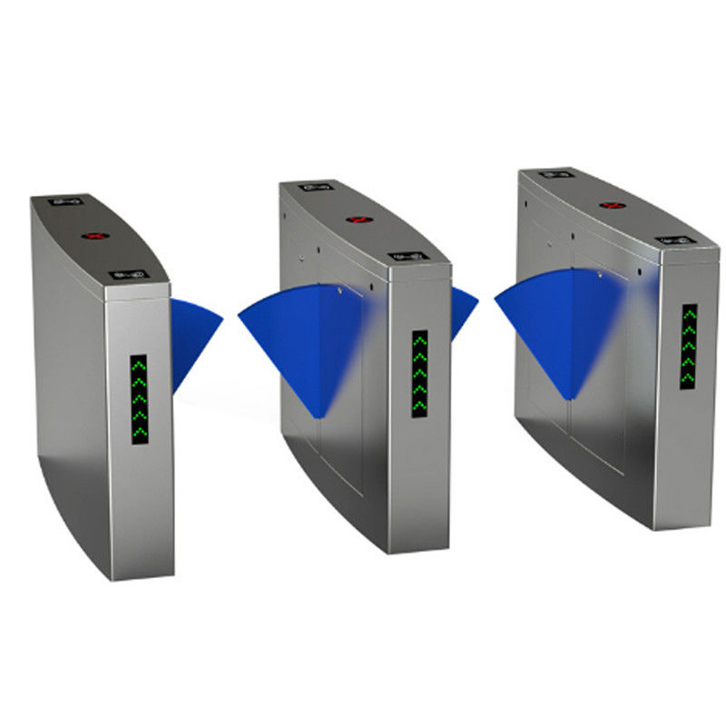 Full Automatic Electronic Turnstile Gates Door Bidirectional Security Flap Barrier With RFID Interface supplier