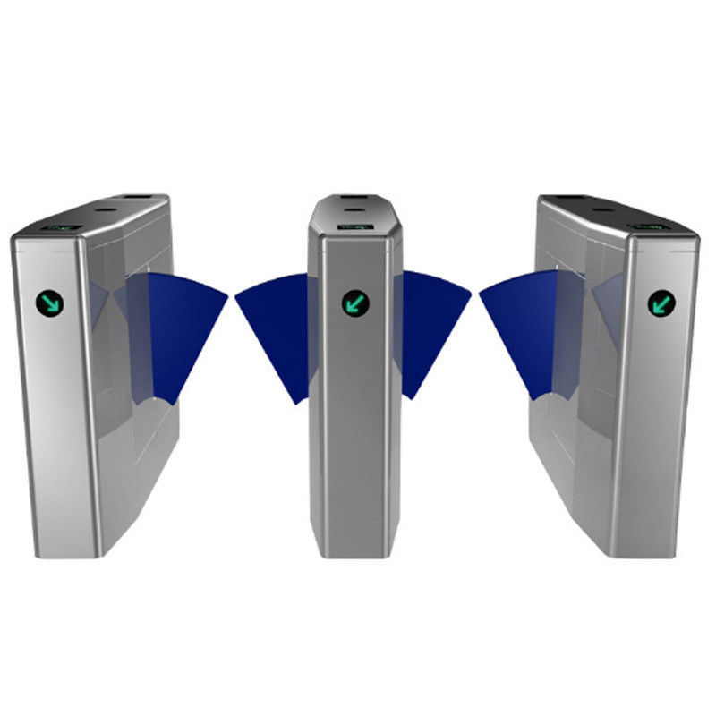 High Speed Access Control Turnstile Gate , RFID Card Flap Barrier Gate Bridge Type supplier