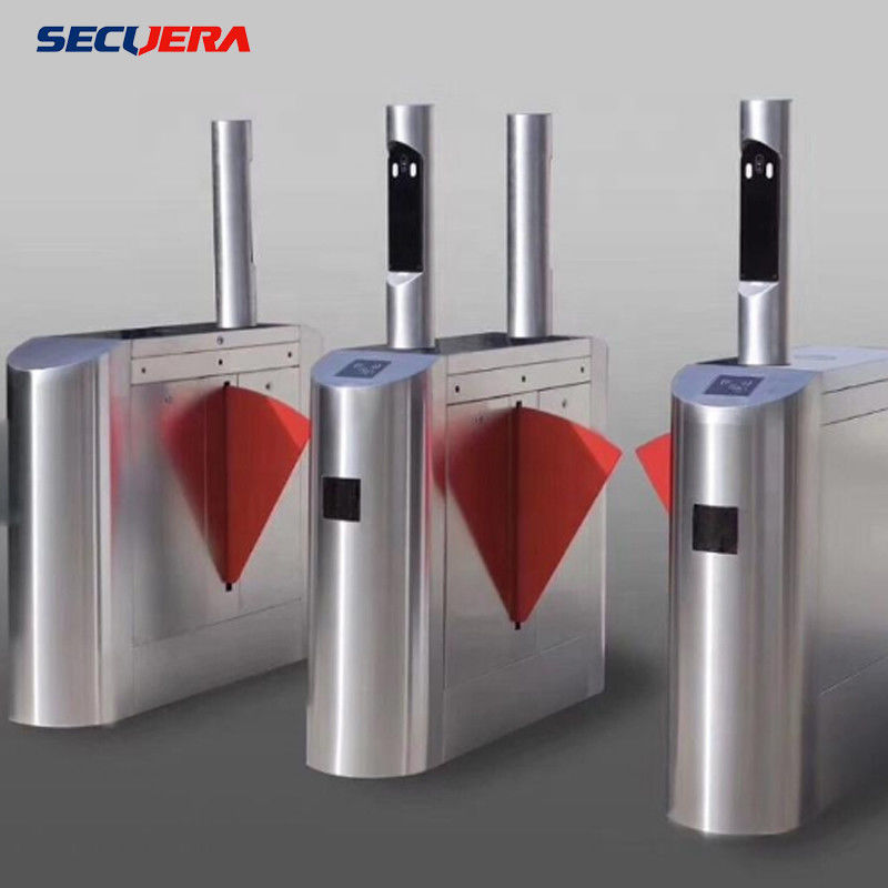 Face Recognition Pedestrian Control Electronic Flap Barrier Gate/ Acrylic Counter Turnstiles
