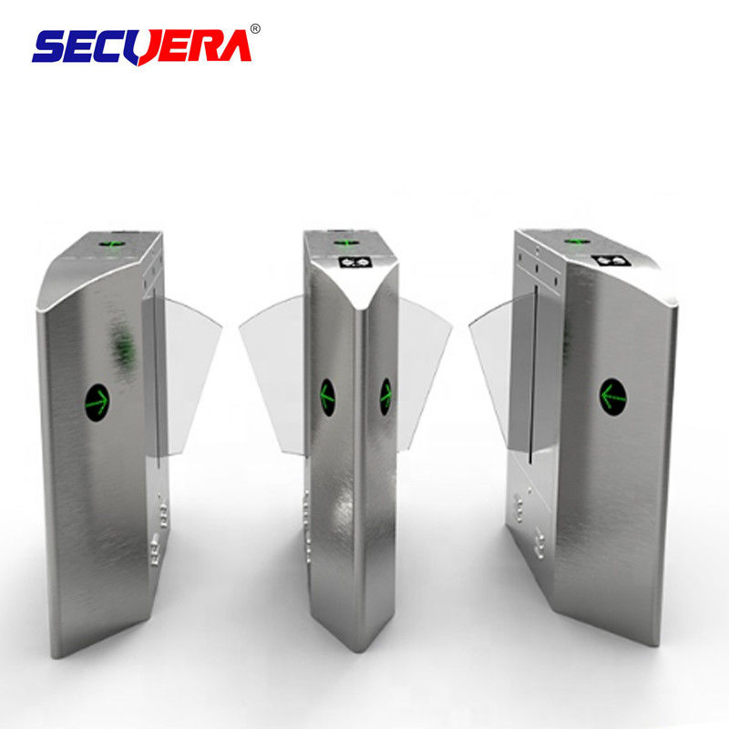 Flap type automatic turnstile control board access control barcode wing turnstile for public transport supplier