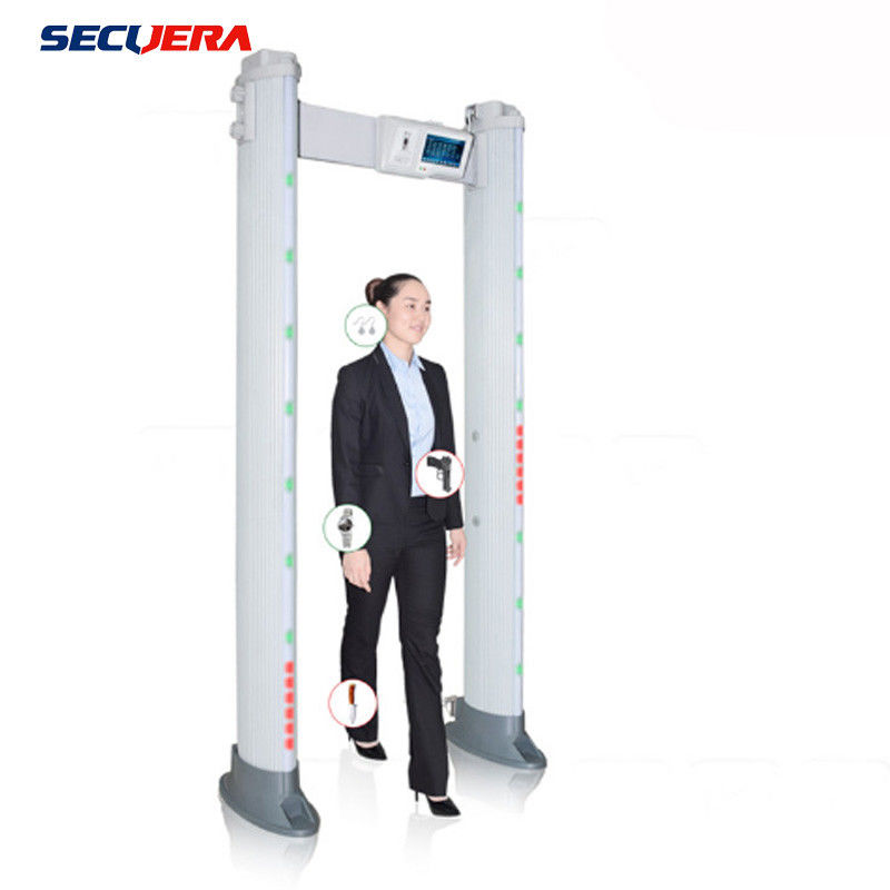 Touch Screen Door Frame Metal Detector , Pass Through Metal Detector 24 Detecting Zone supplier