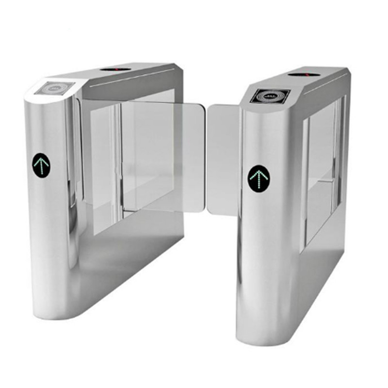 High Speed Pass Automatic Turnstiles Retractable Swing Barrier With Rfid  Reader