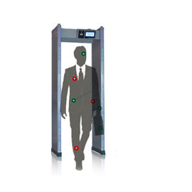 8 Zones Body Portable Walk Through Metal Detector Gate For Airport Hotel Inspection