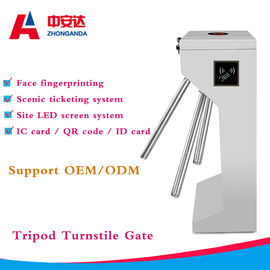 RFID Vertical Tripod Turnstile Gate Security Access Control Barrier One  Way / Two Way
