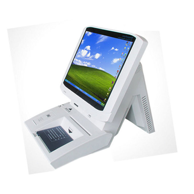 Hotel Payment White Touch Screen Desktop Visitor Management  15 inch