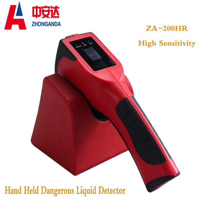 Red Plastic ZA-200H Airport Baggage Scanner Hand Held Dangerous Chemical Liquid