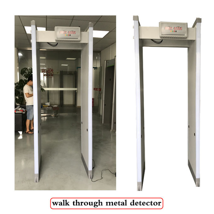 Intelligent Standby Walk Through Metal Detector 8 Zones With Full Aluminum Frame